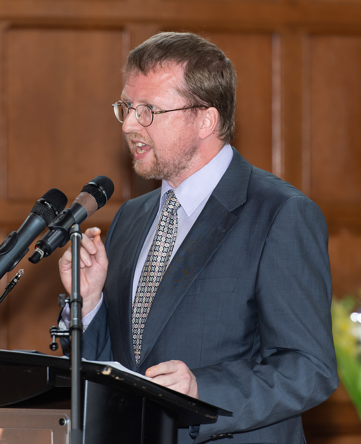 Dr. Paul Thistle delivers speech on global health